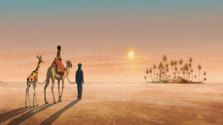 Le avventure di Zarafa - Giraffa Giramondo: un tramonto nel deserto tratto dal film d'animazione