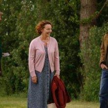Benjamin Whitrow con Shane Taylor ed Eileen Nicholas nel film Bomber