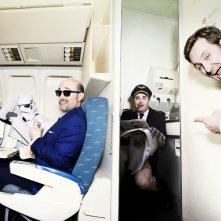 Gli amanti passeggeri: Javier Cámara, Raúl Arévalo e Carlos Areces in un servizio fotografico ispirato al film