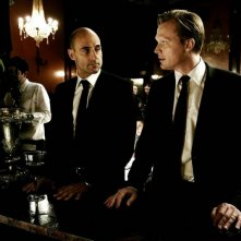 Blood: Mark Strong e Paul Bettany in una scena del thriller