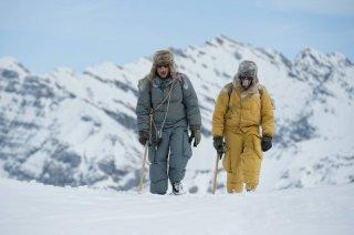 K2: la montagna degli italiani: Michele Alhaique e Massimo Poggio in una scena della fiction Rai