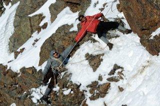 K2: la montagna degli italiani: una scena della fiction Rai