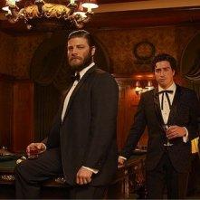 Mad Men: Aaron Staton, Jay R. Ferguson, Rich Sommer e Ben Feldman in una foto promozionale della stagione 6