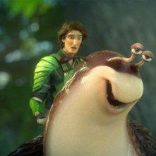 Epic: la lumaca Mub con Nod in una scena del colorato film animato diretto da Chris Wedge