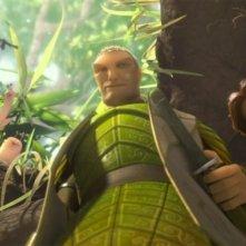 Epic: Ronin e Nod in una scena tratta dal colorato film animato diretto da Chris Wedge