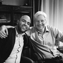 Julian Assange e Roberto Saviano a Londra, nel 2013