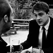 Sheer: Michael Jefferson (di spalle) con Aaron Barcelo in una scena del film