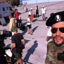 Un'insolita vendemmia: Alex Belli sul set del film all'Isola di Capraia