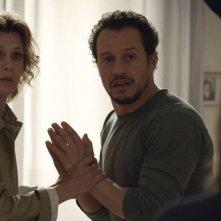 Viaggio sola: Stefano Accorsi e Margherita Buy discutono in una scena del film