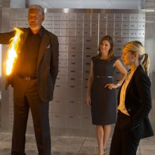 Now You See Me: Morgan Freeman e Mélanie Laurent in una scena