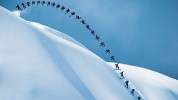 The Art of Flight: una scena del documentario sulle imprese dello snowboarder Travis Rice e dei suoi amici