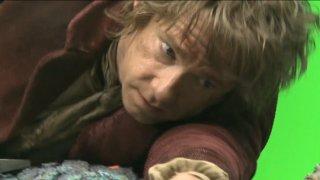 Martin Freeman sul set di The Hobbit: La desolazione di Smaug