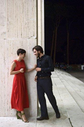 Nina: Diane Fleri insieme a Luca Marinelli in una scena del film