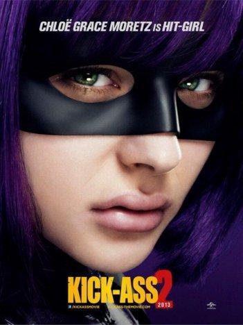 Kick-Ass 2: character poster di Chloe Moretz, alias Hit Girl
