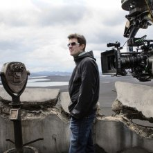 Oblivion: il regista del film Joseph Kosinski sul set
