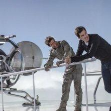 Tom Cruise sul set di Oblivion insieme al regista Joseph Kosinski