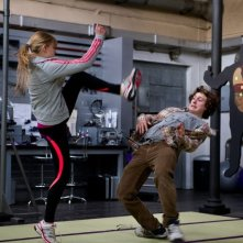 Kick-Ass 2: Chloë Grace Moretz si allena con Aaron Taylor-Johnson in una scena del film