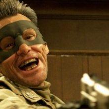 Kick-Ass 2: Jim Carrey in una scena del film nei panni del Colonnello Stars and Stripes