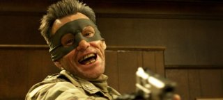 Kick-Ass 2: Jim Carrey in una scena del film nei panni del Colonnello Stars and Stripes