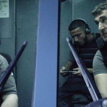 François Cluzet, Éric Bernard, Bouli Lanners nel film 11.6