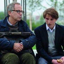 Nella casa: Ernst Umhauer discute con Fabrice Luchini in una scena
