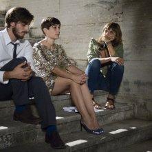 Nina: Diane Fleri e Luca Marinelli sul set del film con la regista Elisa Fuksas
