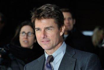 Oblivion: un intenso primo piano di Tom Cruise sul red carpet della premiere di Londra