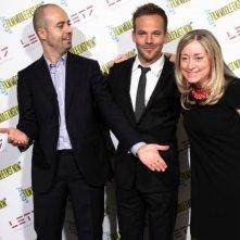 Stephen Dorff con i direttori del Middle East Now di Firenze Roberto Ruta e Lisa Chiari