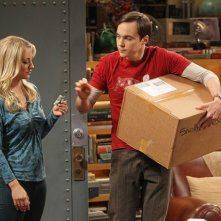 The Big Bang Theory: Jim Parsons e Kaley Cuoco nell'episodio The Higgs Boson Observation