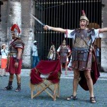 Benur: Paolo Triestino in una scena del film al Colosseo