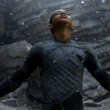 Jaden Smith nel ruolo di Kitai Raige in una scena di After Earth