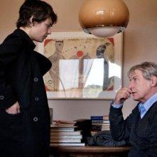 Miele: Jasmine Trinca con Carlo Cecchi in una scena del film