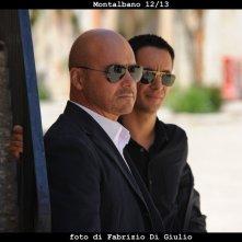 Il commissario Montalbano: Luca Zingaretti e Peppino Mazzotta in una scena dell'episodio Una voce di notte