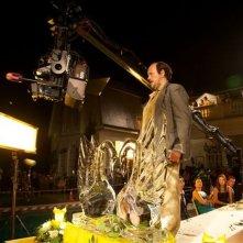 Torrente - Il braccio idiota della legge: il regista e interprete del film Santiago Segura sul set