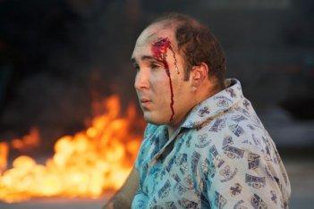 Torrente - Il braccio idiota della legge: Kiko Rivera ferito sul volto in una scena del film