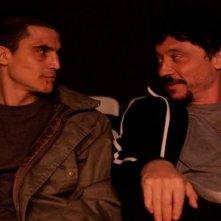 Carlos Bardem e Álex Gónzalez nel film Alacrán enamorado nel quale interpretano Carlomonte e Julian
