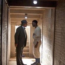 Chadwick Boseman con Harrison Ford nel film 42, dramma sportivo del 2013