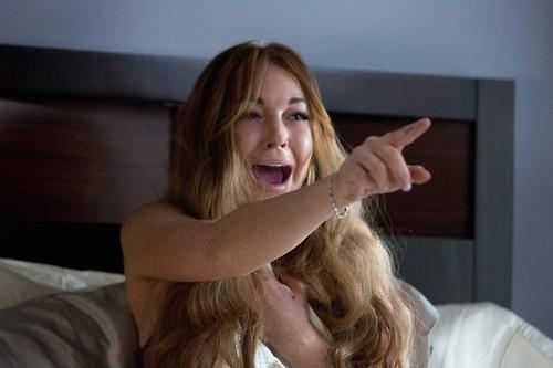 Lindsay Lohan in a Scary Movie 5 scene
