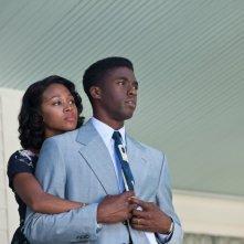 Nicole Beharie con Chadwick Boseman nel dramma sportivo 42