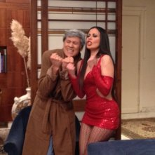 Gianni Morandi e Fulvia Lorenzetti nello spettacolo In nome del padre
