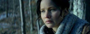 Hunger Games: la ragazza di fuoco, un primo piano di Jennifer Lawrence tratto dal film