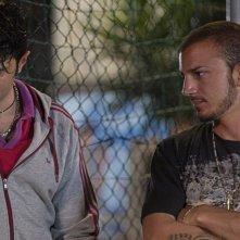 Il futuro: Alessandro Giallocosta con Nicolas Vaporidis in una scena