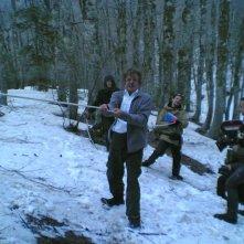 Ti ho cercata in tutti i necrologi: il regista e interprete del film Giancarlo Giannini sul set