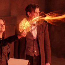 Matt Smith e Jenna-Louise Coleman in un'immagine dell'episodio The Rings of Akhaten, settima stagione di Doctor Who