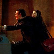 Matt Smith insieme a Jenna-Louise Coleman in un'immagine dell'episodio The Rings of Akhaten, settima stagione di Doctor Who