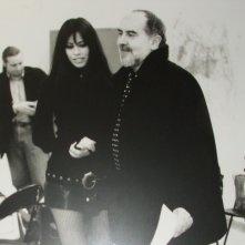 Fulvia Lorenzetti e Bigas Luna durante le prove per 'Le allattatrici'
