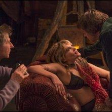Venere in pelliccia: il regista Roman Polanski sul set con Emmanuelle Seigner e Mathieu Amalric