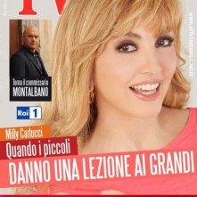 Milly Carlucci sulla cover di TV Radiocorriere per il programma Altrimenti ci arrabbiamo (2013)