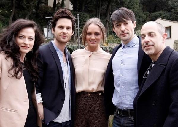 David S Goyer A Firenze Con Il Cast Di Da Vinci S Demons Lara Pulver Laura Haddock Tom Riley E Blake 272618