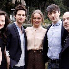 David S. Goyer a Firenze con il cast di Da Vinci's Demons: Lara Pulver, Laura Haddock, Tom Riley e Blake Ritson